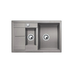BLANCO METRA 6 S Compact | SILGRANIT Alu Metallic | Fregaderos de cocina | Blanco