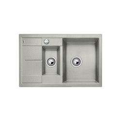 BLANCO METRA 6 S Compact | SILGRANIT Perlgrau | Küchenspülbecken | Blanco
