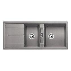 BLANCO METRA 8 S | SILGRANIT Alu Metallic | Küchenspülbecken | Blanco