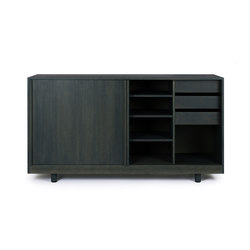 Sideboard with sliding doors Forest Green | Sideboards | Bautier