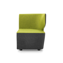 PABLO MODULOR Modular unit left-hand side | Modular seating elements | Girsberger