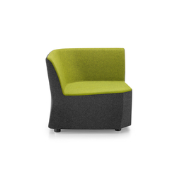 PABLO MODULOR Modular unit right-hand side | Modular seating elements | Girsberger