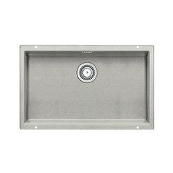 BLANCO SUBLINE 700-U | SILGRANIT Pearl Grey | Fregaderos de cocina | Blanco