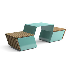 Code combined table and bench | Bancos y mesas | Vestre