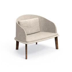 Cleo Teak Lounge Armchair | Garden armchairs | Talenti