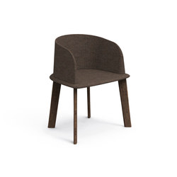 Cleo Teak Padded Tub Chair | Garden chairs | Talenti