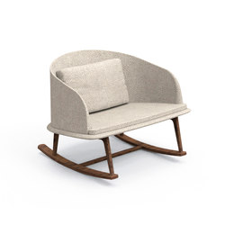 Cleo Teak Rocking Chair | Garden armchairs | Talenti