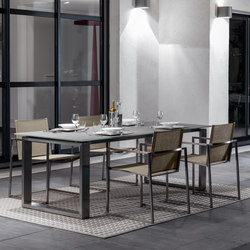 Essence Inox Dining Table | Tables à manger de jardin | Talenti