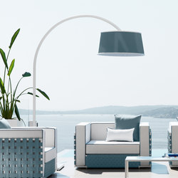 Lily Fabric Arc Lamp | Freestanding floor lamps | Talenti