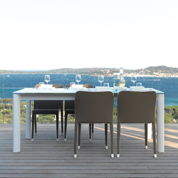 Milo Fabric Ext. Dining Table | Tables à manger de jardin | Talenti