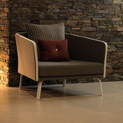 Milo Fabric Living Armchair | Fauteuils de jardin | Talenti