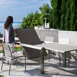 Patch Inox Ext. Dining Table | Garten-Esstische | Talenti