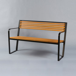 Prague 30 wood Outdoor Bench | Bancos de exterior | AREA