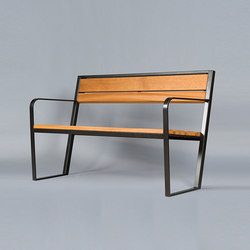 Prague 110 wood Outdoor Bench | Exterior benches | AREA
