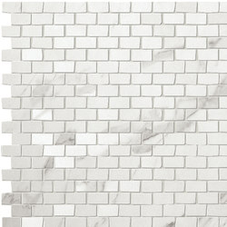 Roma Brick Statuario Mosaico | Mosaics | Fap Ceramiche