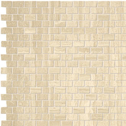 Roma Brick Travertino Mosaico | Ceramic mosaics | Fap Ceramiche
