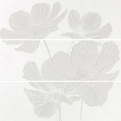 Lumen White Lux Composizione Petal | Wall tiles | ASCOT CERAMICHE