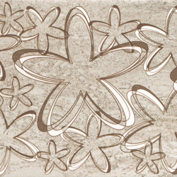 Misty Tortora Scuro Happy Inserto | Piastrelle ceramica | ASCOT CERAMICHE