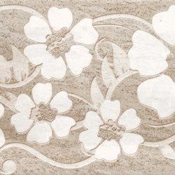 Misty Tortora Scuro Flowers Inserto | Piastrelle ceramica | ASCOT CERAMICHE