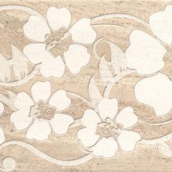 Misty Beige Scuro Flowers Inserto | Keramik Fliesen | ASCOT CERAMICHE