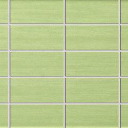 Pennellato Verde Prato Fascia Incisa | Azulejos de pared | ASCOT CERAMICHE