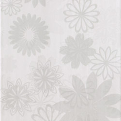 Pennellato Bianco Inserto Floreale | Carrelage mural | ASCOT CERAMICHE