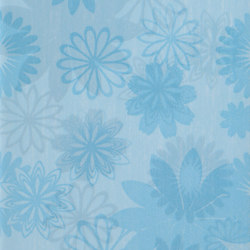 Pennellato Azzurro Inserto Floreale | Piastrelle/mattonelle da pareti | ASCOT CERAMICHE
