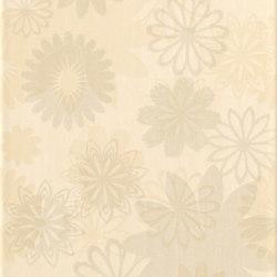 Pennellato Giallo Inserto Floreale | Piastrelle/mattonelle da pareti | ASCOT CERAMICHE