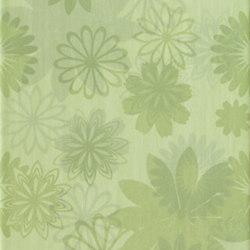 Pennellato Verde Prato Inserto Floreale | Wandfliesen | ASCOT CERAMICHE