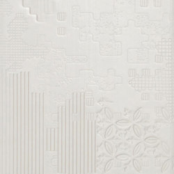 Bas-Relief patchwork bianco | Wall tiles | Ceramiche Mutina