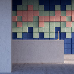 BAUX Acoustic 3D Pixel - Reception | Wood panels | BAUX
