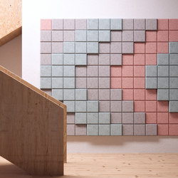 BAUX Acoustic 3D Pixel - Stairsign | Wood panels | BAUX