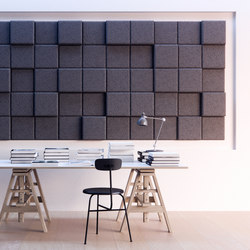 BAUX Acoustic 3D Pixel - Workingspace | Wood panels | BAUX