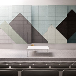BAUX Acoustic Tiles - Campus Event-Hall | Holz Platten | BAUX