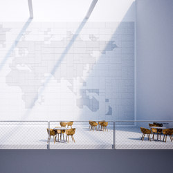 BAUX Acoustic Tiles - Campus Worldmap | Wood panels | BAUX