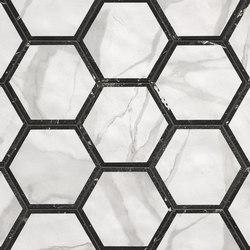 Roma Decò Esagono Statuario Grafite | Ceramic tiles | Fap Ceramiche