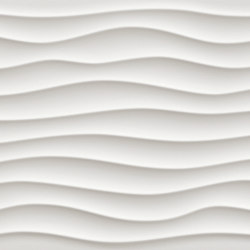 3D Wall Dune White Matt | Carrelage céramique | Atlas Concorde
