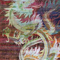 Kundan Pure Silk Dancing Dragon | Formatteppiche / Designerteppiche | Zollanvari