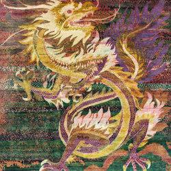 Kundan Pure Silk Dancing Dragon | Rugs / Designer rugs | Zollanvari