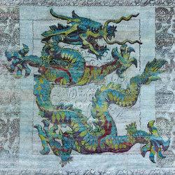 Kundan Pure Silk Dancing Dragon | Alfombras / Alfombras de diseño | Zollanvari