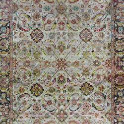 Kundan Pure Silk Heriz Design | Formatteppiche / Designerteppiche | Zollanvari