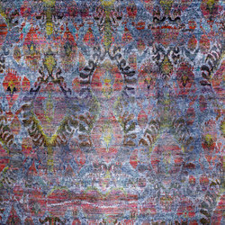 Kundan Pure Silk Ikat | Formatteppiche / Designerteppiche | Zollanvari