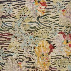 Kundan Pure Silk Iridescence Tigers Blooms | Formatteppiche / Designerteppiche | Zollanvari
