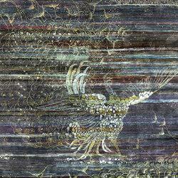 Kundan Pure Silk Prancing Peacock | Formatteppiche / Designerteppiche | Zollanvari