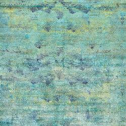 Kundan Pure Silk Iridescence Bluebird Feathers | Formatteppiche / Designerteppiche | Zollanvari