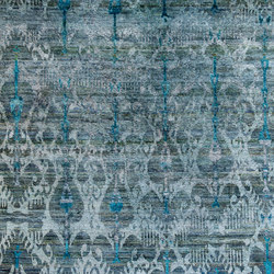 Kundan Diffusion Koti Silk Ikat | Alfombras / Alfombras de diseño | Zollanvari