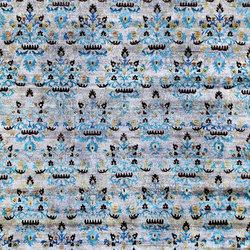 Kundan Diffusion Koti Silk Kaitag Flowers | Formatteppiche / Designerteppiche | Zollanvari
