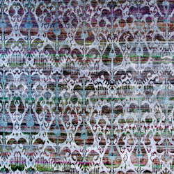 Kundan Diffusion Koti Silk Ikat 7 Lilac Blue | Formatteppiche / Designerteppiche | Zollanvari