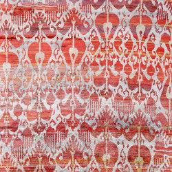 Kundan Diffusion Koti Silk Ikat 8 Red | Alfombras / Alfombras de diseño | Zollanvari