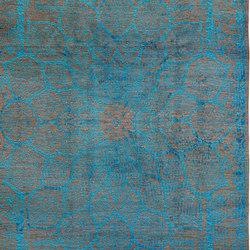 Designer Isfahan Gloss in Turquoise Blue | Formatteppiche / Designerteppiche | Zollanvari